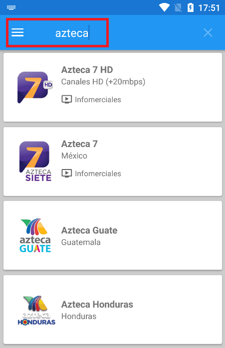 buscar canales you tv player