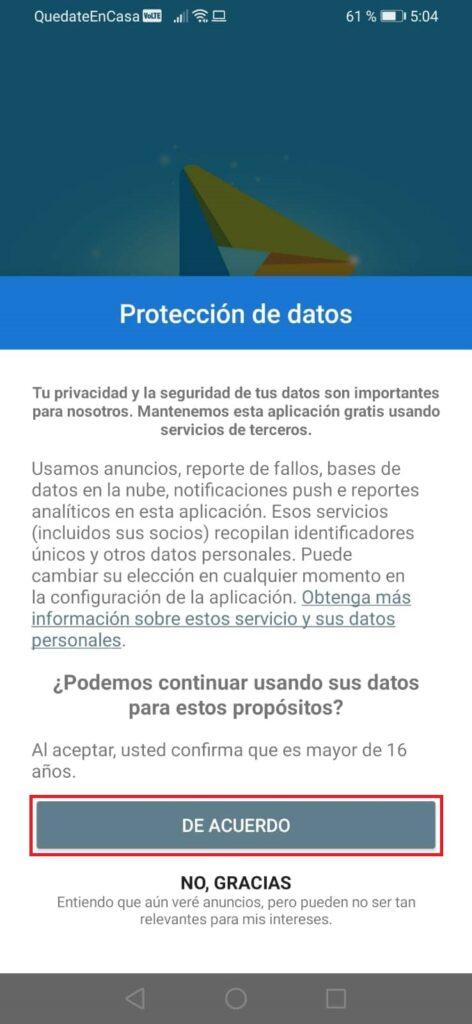 Aceptar Protección de Datos de You Tv Player
