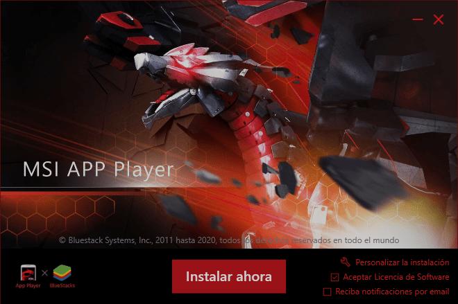Instalar MSI APP Player en tu Computadora